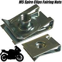 20x Fairing Clips M5 Bodywork Panel Speed Clips Motorcycle Bike U Nut Ducati