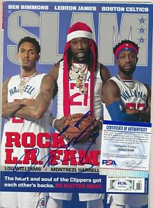 Montrezl Harrell and Lou Williams Autographed NBA Hoops March Edition PSA/DNA