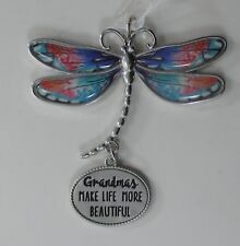 zzx Grandmas make life more beautiful Delightful Dragonfly Message Ornament