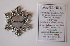 s Blessings SNOWFLAKE WISHES Pocket Token Charm ganz frozen unique count your