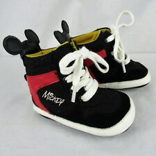 Disney Mickey High Top Infant Baby Sneakers Basketball Black