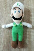 White Luigi Super Mario Bros Nintendo Character Soft Plush Toy 24 CM Tall