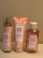 Bath & Body Works ROSE WATER & IVY Body Cream Body Wash Fragrance Mist Pick 1
