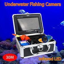 "BOBLOV 30m Infrared IR 7"" Monitor Fish Finder Underwater Camera+Lights Control"