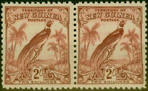 New Guinea 1932 2s Dull Lake SG186 Fine MNH Pair