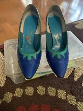 "Vintage Womens Shoes Just Say Adores ""Stewarts� Heels 7M Pin-up, Rockabilly Rare"