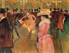DANCE al Moulin Rouge Tolosa LAUTREC CANVAS o di belle arti Poster Stampa Nuovo