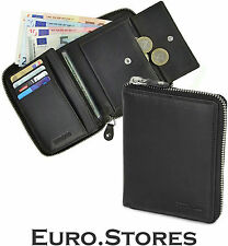 Samsonite Wallet 54783 Zipper Black Leather Trifold Coin Compartment Genuine New