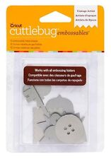 Cricut Cuttlebug VINTAGE ARTIST-SILVER Embossables Metal Shapes - Brand New!!!!