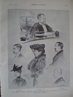 Humbert Libel Trial brought by Cattaui 1903 old prints