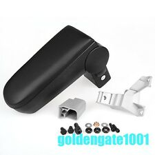 Car Black Front Center Console Armrest Box For 00-04 VW Golf /Jetta/Bora R32 GG