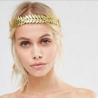 Gold Leaves Wedding Party Bridal Tiara Crown Bride Valentine's Hair Hoop Gift
