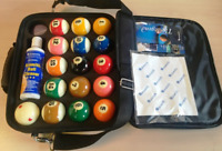 Aramith Pro Cup American Pool Balls and Carry Case - Tournament Ball Set