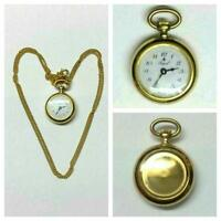 Reloj De Bolsillo Royal bañado en oro collar con cadena cuerda manual