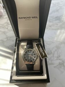Raymond Weil 5591 Men Watch Leather Band In Black