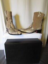 bottines jean baptiste rautureau daim beige et python pointure 44