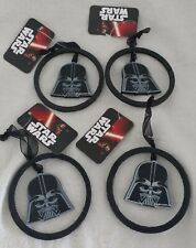 4 X STAR WARS DARTH VADER WOODEN CHRISTMAS TREE DECORATIONS BAUBLES NEW