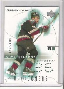 2001-02 UD CHALLENGE FOR THE CUP KRYS KOLANOS ROOKIE #rd 1000