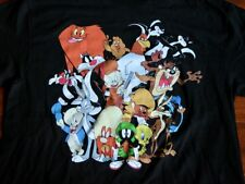 NWOT Warner Bros LOONEY TUNES Cartoon Bugs Bunny Taz Wile E. Coyote T-Shirt L