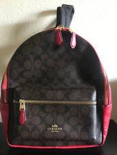 NWT Coach F32200 Medium Charlie  backpack Shoulder Bag Brown True Red