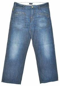 ARMANI Mens Jeans W36 L33 Blue Cotton Straight CP06