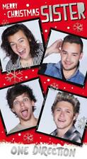 ONE DIRECTION MERRY CHRISTMAS SISTER CHRISTMAS CARD NEW GIFT