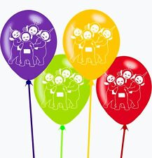 "8X Teletubbies 12"" Latex Balloons For  Kids Birthday Party Decorations"