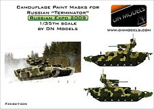 """Camouflage Paint Masks for Russian BMPT """"TERMINATOR"""" I 1/35 Arms Expo 2009"""
