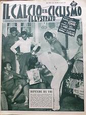 IL CALCIO ILLUSTRATO N 30 1956 TOUR NENCINI GIUDICI  SAMP GENOA ROMA A CARACAS