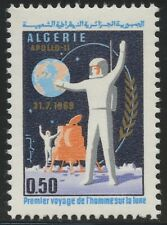 ALGERIE N°500** Espace, homme sur la lune,1969 ALGERIA Space man on the moon MNH