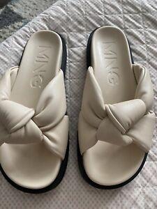 Mango UK 5 Cream Knot Sandals