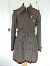 Burberry Prorsum Cotton Trench Coat with Leather Details UK8 / USA 6