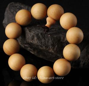 China Natural Cedar Wood Grinding Round Buddha Beads Hand Chain Pretty Bracelet