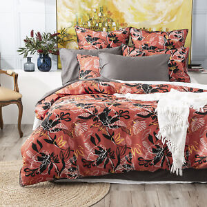 Renee Taylor 300 TC Cotton Printed Quilt cover Set Nora