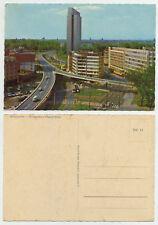 47317 - Düsseldorf - Hochstraße und Thyssen-Haus - alte Ansichtskarte
