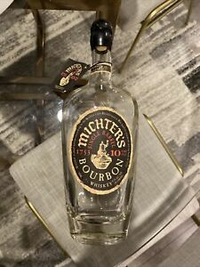 Michters 10 Year Single Barrel Bourbon Whiskey W/ Cork RARE! Empty.