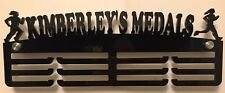 THICK 5mm Acrylic PersonalisedFemale Running 3Tier Medal Hanger / Medal Holder