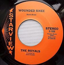 ROYALS surf guitar inst. Near-Mint STARVIEW 45 WOUNDED KNEE SMOKE UP AHEAD F2407