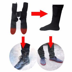 Electric Heated Rechargable Battery Socks Boot Feet Warmer Winter Outdoor