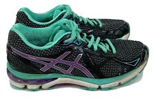 Asics GT-2000 Women's Size 7 Black Purple Teal Running Athletic Shoes T550N