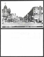 Old Wisconsin Real Photo Postcard - Stevens Point - Main Street Scene