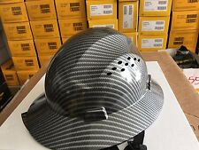 HDPE Hydro Dipped Blue/Silver Full Brim Hard Hat with Fas-trac Suspension