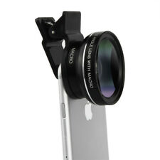 Hot Universal 0.45x HD Wide Angle 12x Macro Camera Lens Kit Case for iPhone 7 6s