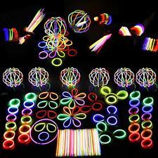 "6"" 8"" Glow Sticks Premium Bracelets Neon Necklaces Birthday Rave Party Favour"