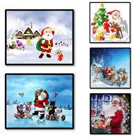 Christmas Santa Claus Cross Stitch Embroidery ART Decor Partial Diamond Painting