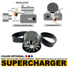 3 Universal Tornado Turbonator Intake Fuel Saver Single Fan Supercharger Black