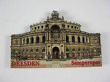 Dresden Semperoper,3D großer Holz Magnet,Souvenir Germany Deutschland