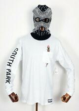 Huf Skate Shoes Longsleeve T-Shirt South Park Mr Hanky Pocket White in M Hankey
