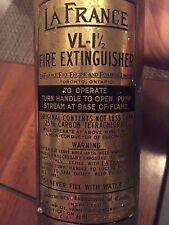 La France VL-1 1/2 fire extinguisher / La France VL-1 1/2 instincteur