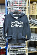 Women's Hollister Zip Hoodie Hooded Sweatshirt Top Dark Blue Size S